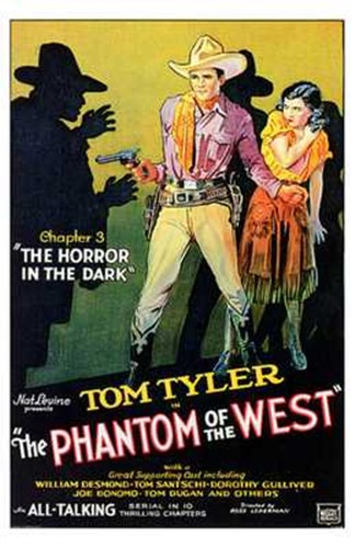 Phantom of the West The Horror in the Dark Poster by Unknown for $26.25 CAD