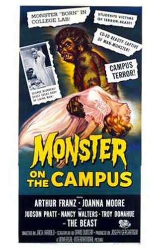 Monster on the Campus Arthur Franz Poster by Unknown for $26.25 CAD