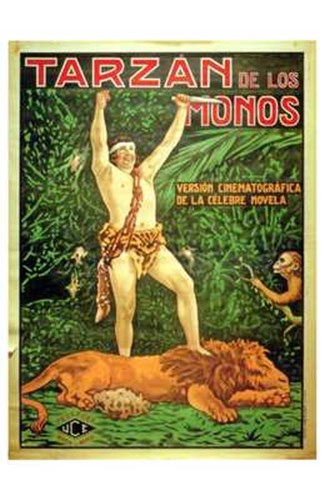 Tarzan of the Apes, c.1917 (Spanish) - style B Poster by Unknown for $26.25 CAD