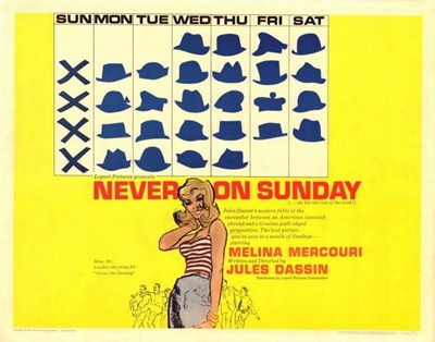 Never on Sunday Poster by Unknown for $26.25 CAD