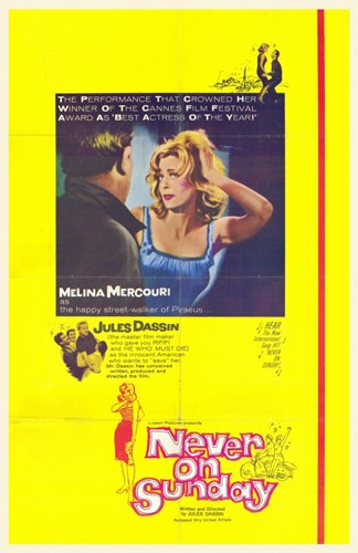 Never on Sunday Melina Mercouri Poster by Unknown for $26.25 CAD