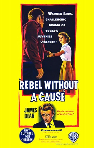 Rebel Without a Cause Bright Yellow Poster by Unknown for $26.25 CAD