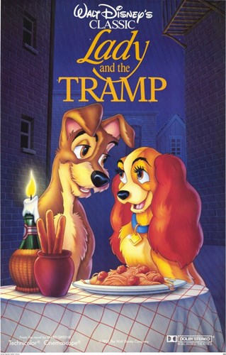 Lady and the Tramp Disney Classic Poster by Unknown for $26.25 CAD