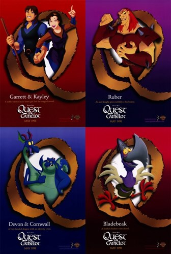 Quest for Camelot Poster by Unknown for $26.25 CAD