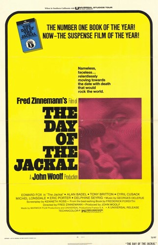 The Day of the Jackal Film Poster by Unknown for $26.25 CAD
