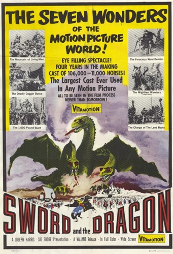 Sword and the Dragon Poster by Unknown for $26.25 CAD