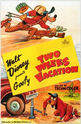 Two Weeks Vacation Poster by Unknown for $26.25 CAD