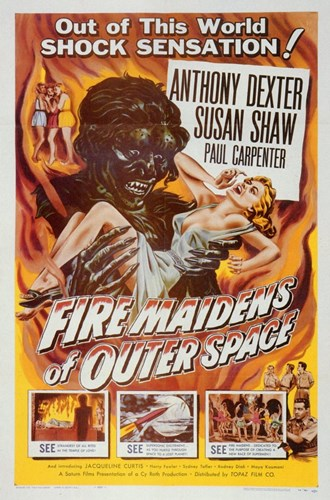 Fire Maidens from Outer Space Poster by Unknown for $26.25 CAD