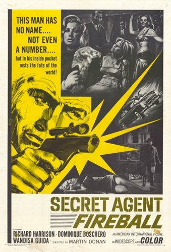 Secret Agent Fireball Poster by Unknown for $26.25 CAD