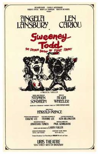 Sweeney Todd (Broadway Musical) Poster by Unknown for $26.25 CAD