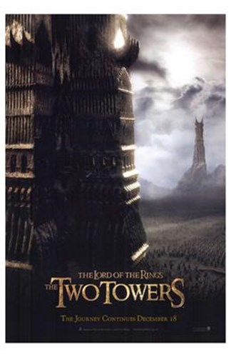 Lord of the Rings Towers Poster by Unknown for $26.25 CAD