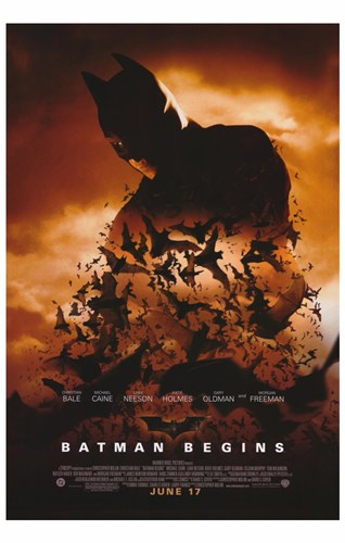 Batman Begins June 17 Poster by Unknown for $26.25 CAD