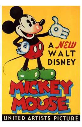 A New Walt Disney Mickey Mouse in Yellow Poster by Unknown for $26.25 CAD