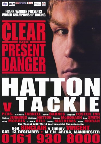 Ricky Hatton vs Ben Tackie Poster by Unknown for $26.25 CAD