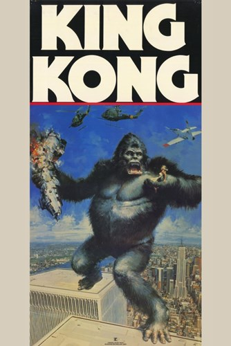 King Kong Holding Fay Wray Poster by Unknown for $26.25 CAD