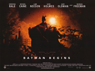 Batman Begins Horizontal Poster by Unknown for $26.25 CAD