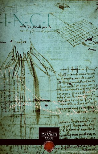 The Da Vinci Code Green Sketch Poster by Unknown for $26.25 CAD