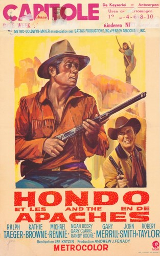 Hondo and the Apaches Poster by Unknown for $26.25 CAD