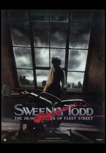 Sweeney Todd Johnny Depp overlooking London Poster by Unknown for $26.25 CAD
