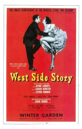West Side Story (Broadway) red cover Poster by Unknown for $26.25 CAD