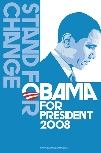 Barack Obama, (Stand for Change, Blue) Campaign Poster Poster by Unknown for $26.25 CAD