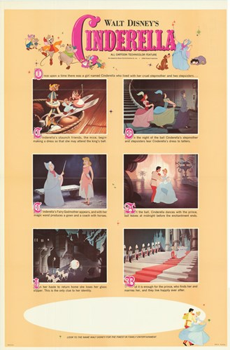 Cinderella Movie Scenes Poster by Unknown for $26.25 CAD