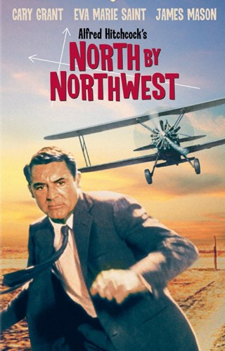 North By Northwest Running from Airplane Poster by Unknown for $26.25 CAD