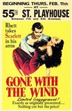 Gone with the Wind Vintage Theater Advertisement Yellow