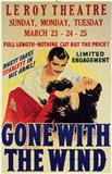 Gone with the Wind Vintage Theater Advertisement White