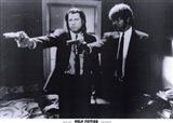 Pulp Fiction Shooting Black and White