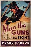 Pearl Harbor Art Deco Man the Guns