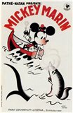 Mickey Mouse on a boat