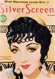 Claudette Colbert Silver Screen Art Deco
