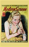 Carole Lombard Yellow Modern Screen