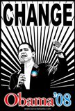 Barack Obama - (Change Red and Blue) Campaign Poster