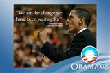 Barack Obama - (We Are The Change) Campaign Poster