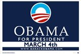 Barack Obama - (March 4) Campaign Poster