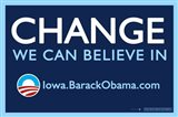 Barack Obama - (Change, Iowa) Campaign Poster