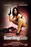 Boarding Gate - woman with a gun
