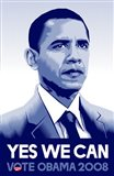 Barack Obama - (Yes We Can) Campaign Poster