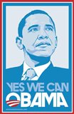Barack Obama, (Blue, Yes We Can) Campaign Poster