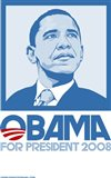 Barack Obama - (Blue) Campaign Poster