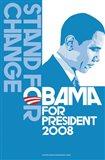 Barack Obama, (Stand for Change, Blue) Campaign Poster
