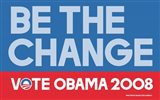 Barack Obama - (Be The Change) Campaign Poster