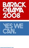 Barack Obama - (Yes We Can Logo) Campaign Poster