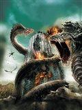 D-War Worm Dragon AttackingBuilding