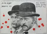 Butch Cassidy and the Sundance Kid B&W Blood Splatter