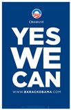 Barack Obama - (Yes We Can - Blue) Campaign Poster