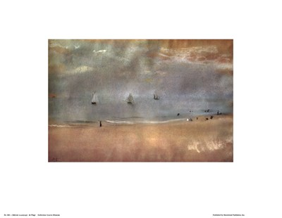 Beach Landscape Poster by Edgar Degas for $15.00 CAD