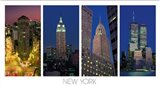 The Flatiron Building, the Empire State Building, the Chrysler Building and the World Trade Center